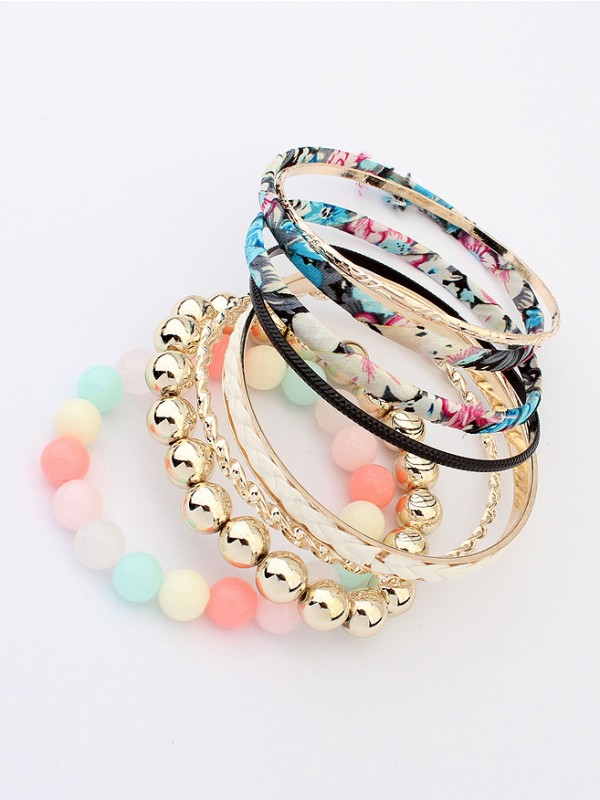 Multi-layered Fabric Bracelet J099414JR