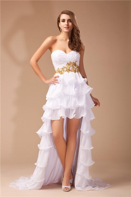 1c4121265d05d A-Line Princess Sweetheart High Low Chiffon Dress - DylanQueen