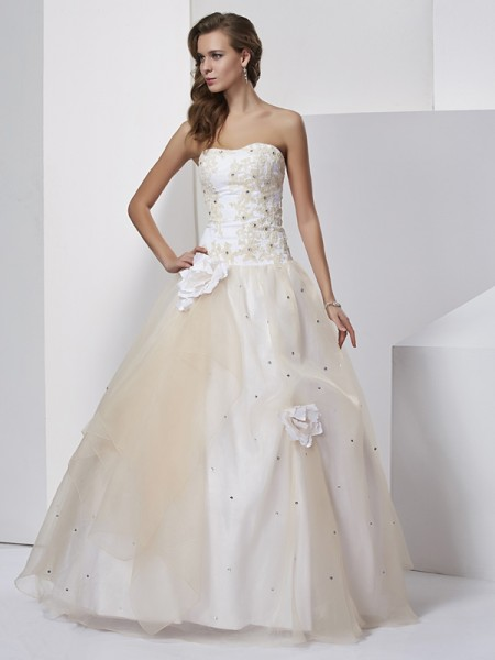 Ball Gown Sweetheart Long Tulle Quinceanera Dress