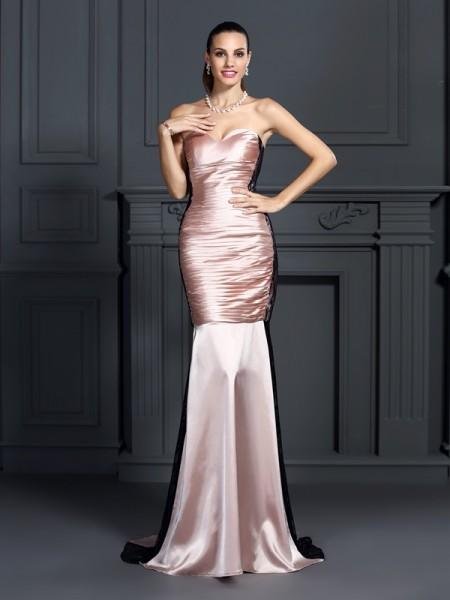 Trumpet/Mermaid Sweetheart Lace Long Taffeta Dress