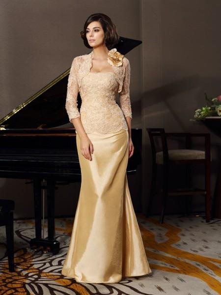 Trumpet/Mermaid Sweetheart Lace Long Taffeta Mother of the Bride Dress