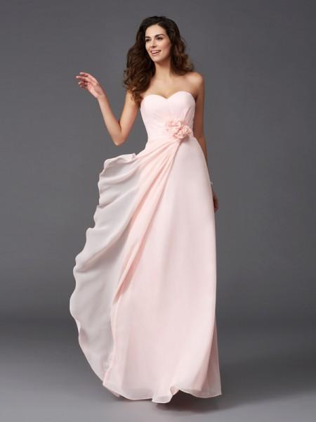 A-Line/Princess Sweetheart Chiffon Bridesmaid Dress