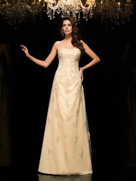 A-Line/Princess Sweetheart Long Net Mother of the Bride Dress