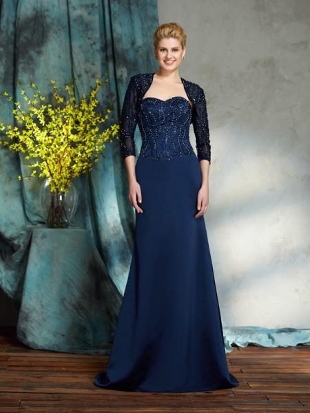Sheath/Column Sweetheart Sequin Satin Mother of the Bride Dress