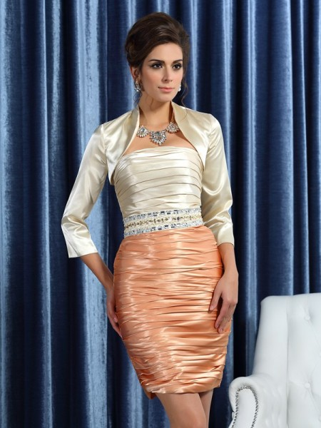 Elegant Silk like Satin 3/4 Sleeves Special Occasion Wrap