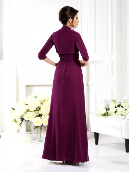 Elegant 3/4 Sleeves Chiffon Special Occasion Wrap