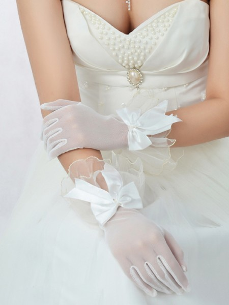Tulle Wedding Gloves IDRESS911