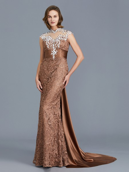 Trumpet/Mermaid Scoop Lace Floor-Length Mother of the Bride Dresses