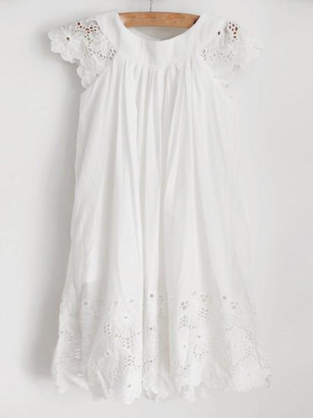 A-Line/Princess Lace Ruffles Scoop Sleeveless Knee-Length Flower Girl Dresses