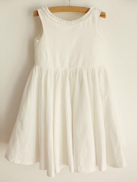 A-Line/Princess Scoop Ruffles Sleeveless Spandex Knee-Length Flower Girl Dresses