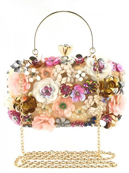 Fashion Satin Bags With Flower