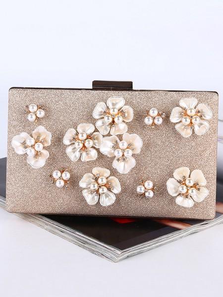 Graceful Pearl Flower Handbags
