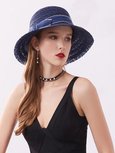 Ladies' Romantic Lace Bowknot Adjustable Beach/Sun Hats