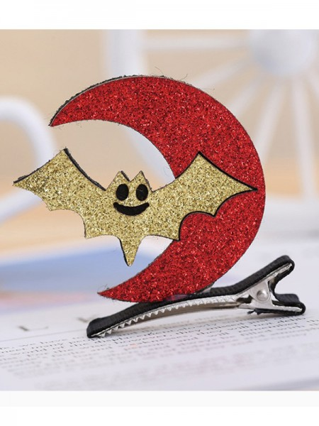 Halloween Cute Metal With Moon/Bat Hairpins For Children