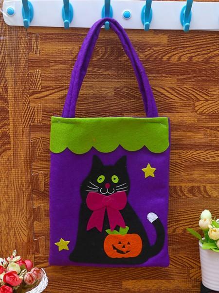 Halloween Beautiful Nonwoven Fabric Handbags