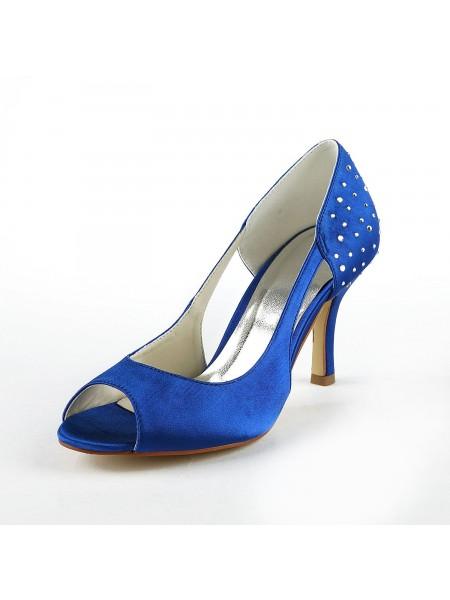 Gorgeous Satin Peep Toe High Heels S1A31B17