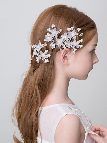Charming Alloy With Imitation Pearl Headbands
