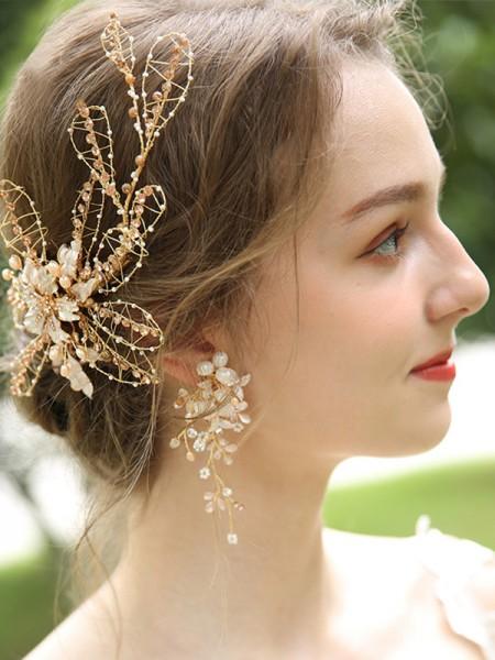 Splendid Alloy With Flower Women's Earrings