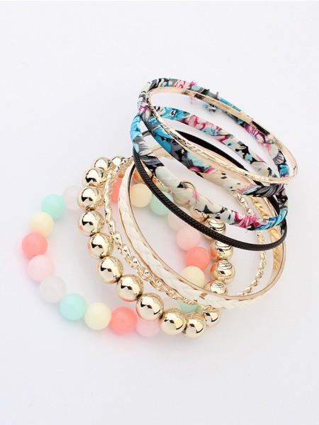 Multi-layered Fabric Bracelet J099414JR