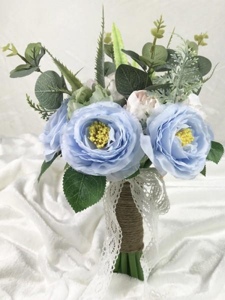Free-Form Nice Silk Flower Bridal Bouquets