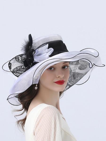 Ladies' Elegant Organza Flower Kentucky Derby Hats/Tea Party Hats