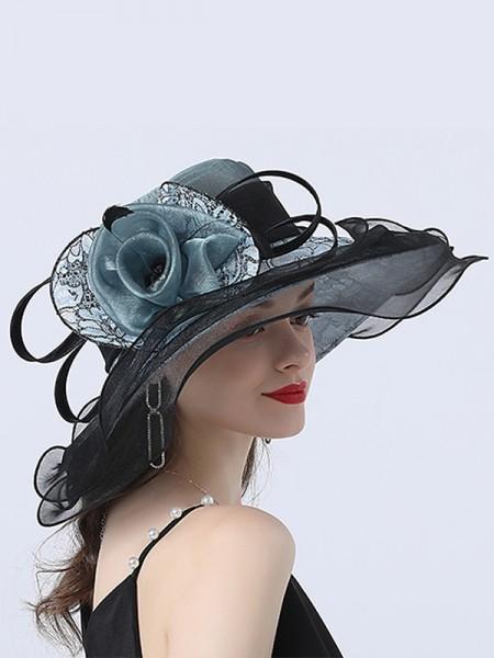Ladies' Pretty Organza Flower Kentucky Derby Hats/Tea Party Hats