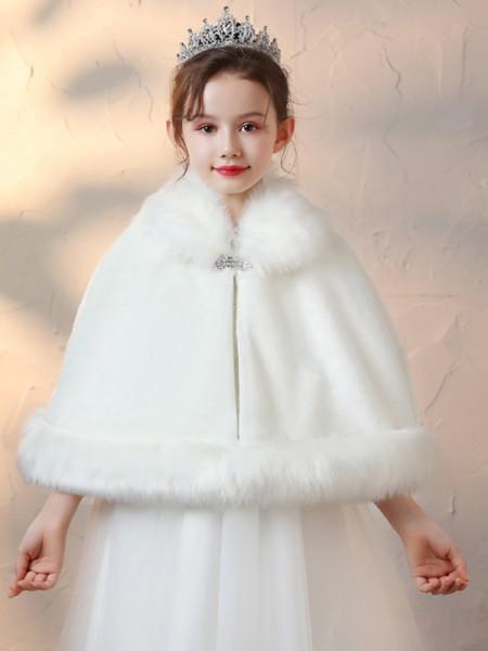 Soft Faux Fur With Rhinestone Wraps