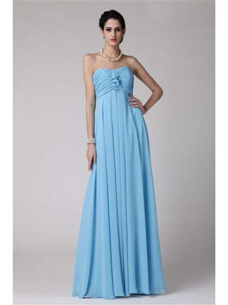 Sheath/Column Strapless Ruffles Chiffon Bridesmaid Dress
