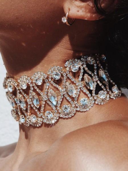 Fashion Alloy With Rhinestone Hot Sale Chokers