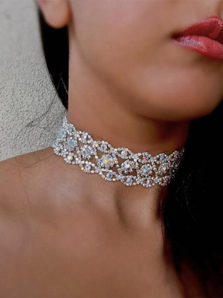 Gorgeous Alloy With Rhinestone Chokers For Women