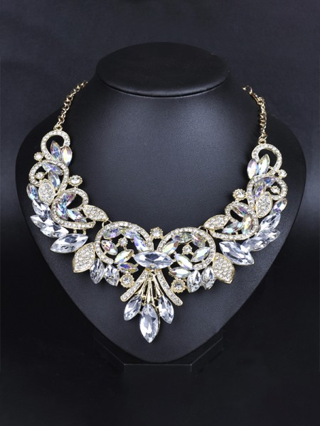 Stunning Alloy With Rhinestone Chokers For Ladies