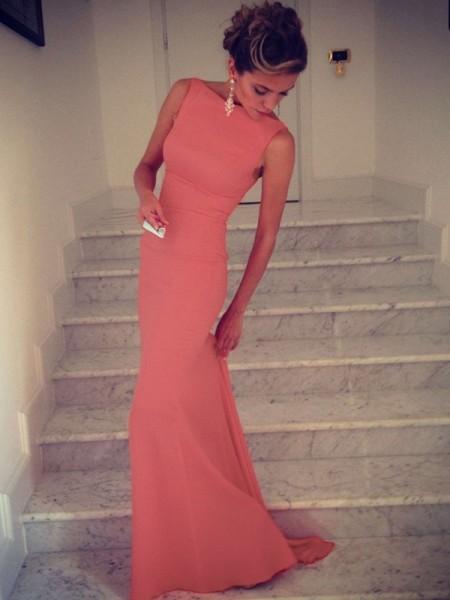 Trumpet/Mermaid High Neck Spandex Floor-Length Dress