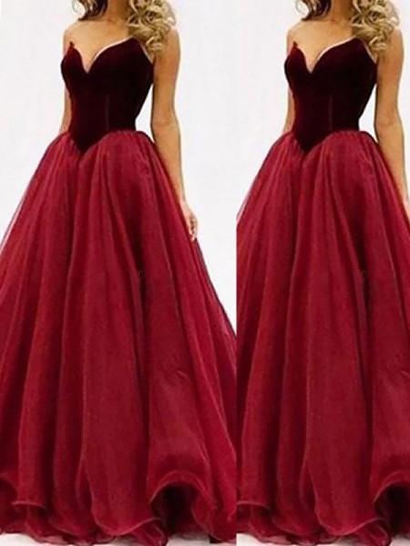 Ball Gown Sweetheart Tulle Floor-Length Dress