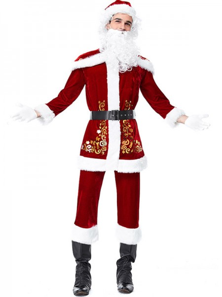 Fascinating Polyester With Belt Christmas Clothes For Men