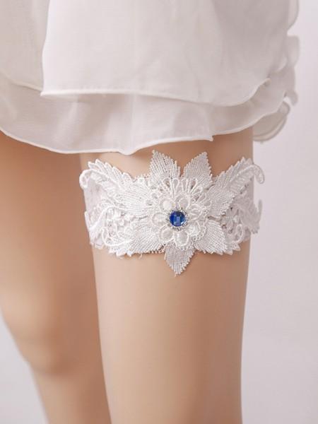 Sweet Bridal/Feminine Lace With Rhinestone Garters