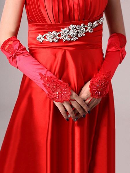 Romantic Cloth Bowknot Wedding Gloves