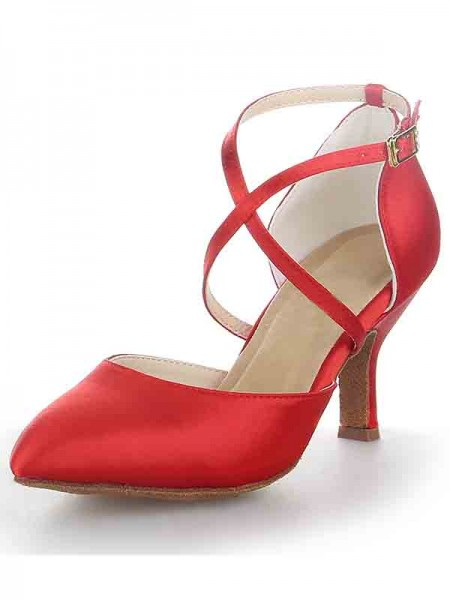 Spool Satin With Buckle Sandal High Heels SW11562451I