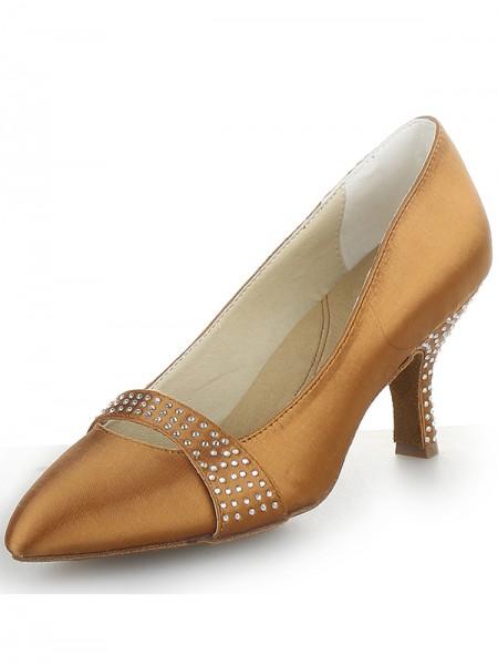 Satin Cone High Heels SW162471I