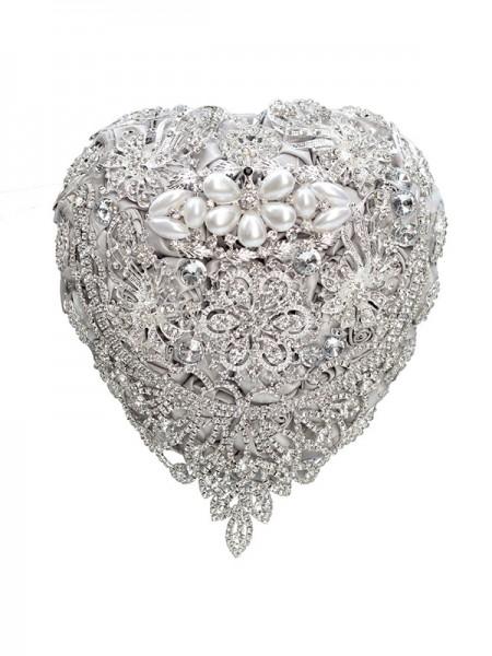 Charming Free-Form Satin Bridal Bouquets