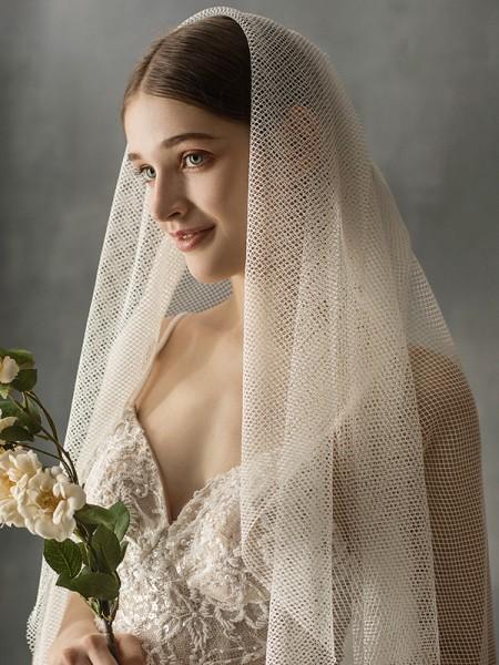 Fancy Tulle One-Tier Chapel Bridal Veils