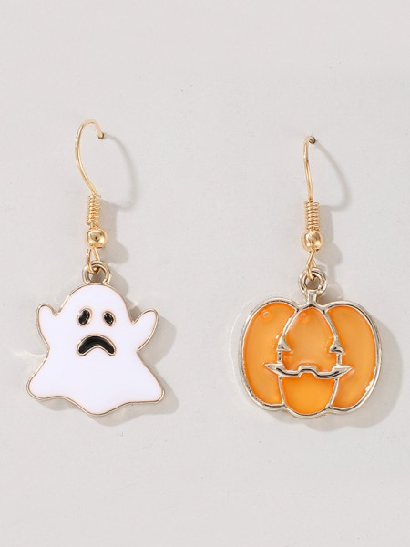 Halloween Charming Alloy With Ghost/Pumpkin Earrings