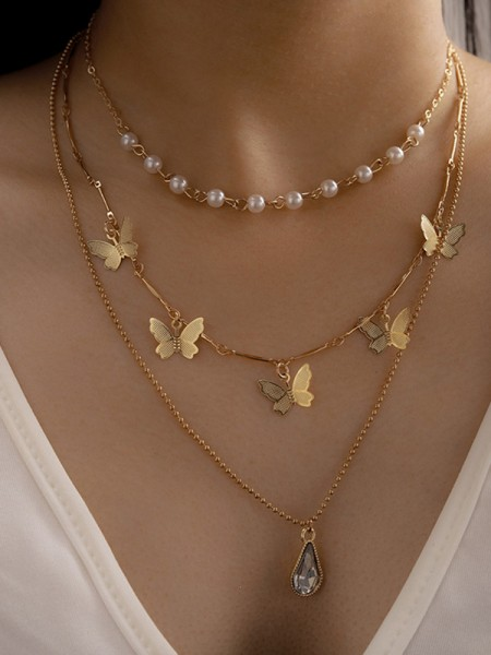 Elegant Alloy With Butterfly Necklaces
