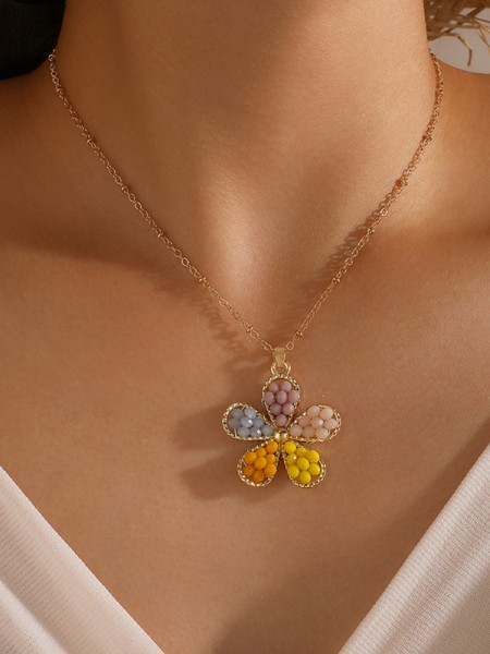 Stunning Alloy With Flower Necklaces