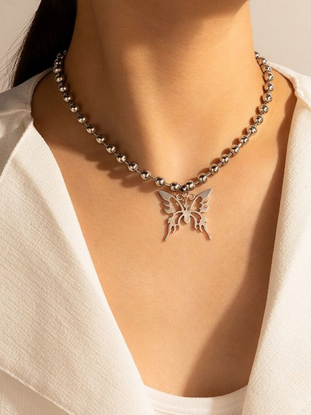 New Hot Alloy With Butterfly Necklaces