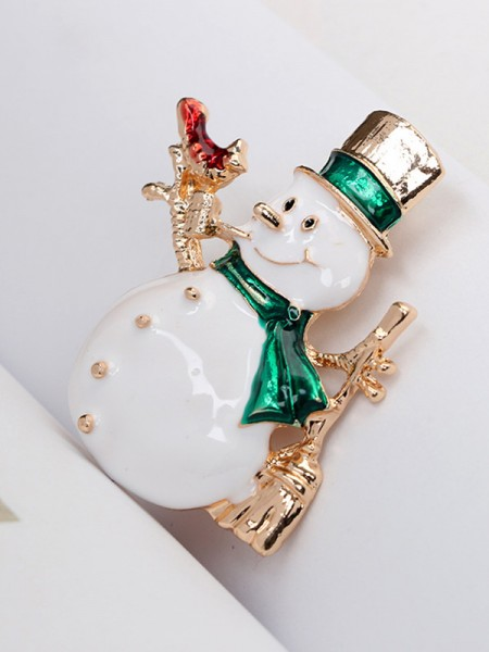 Christmas Trendy Alloy With Snowman Brooches