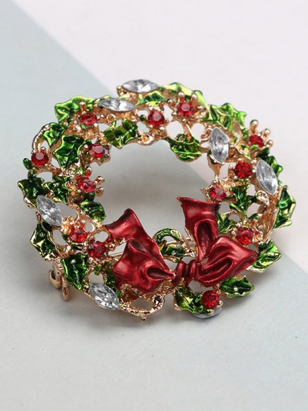 Christmas Fascinating Alloy With Rhinestone Brooches