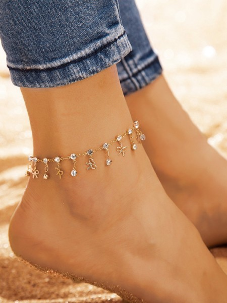 Bright Alloy With Rhinestone Hot Sale Anklets