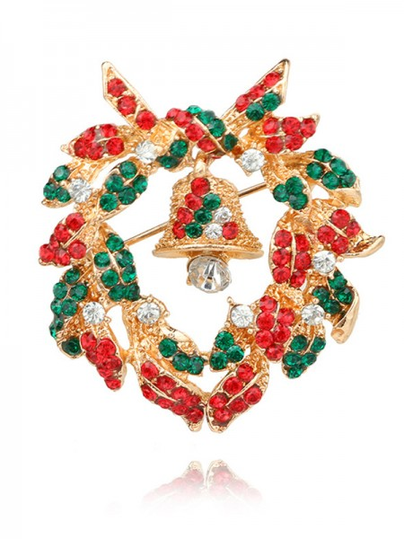 Christams Excellent Bell Alloy Brooches