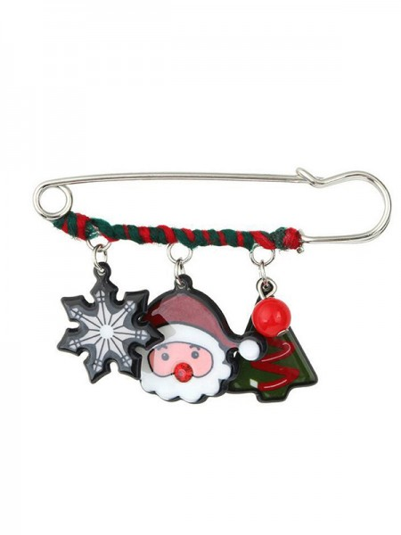 Christams Lovely Santa Claus Alloy Brooches