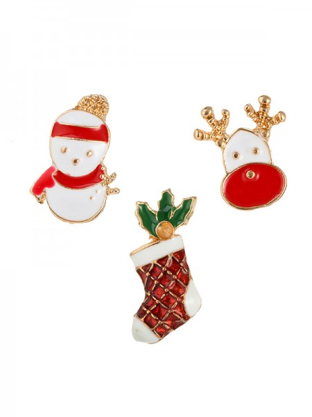 Christams Lovely Snowman Alloy Brooches(3 Pieces)